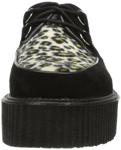 Suede cheetah 400 Blk Nero Fur CREEPER Uomo Scarpe stringate Demonia Px8R0Ux