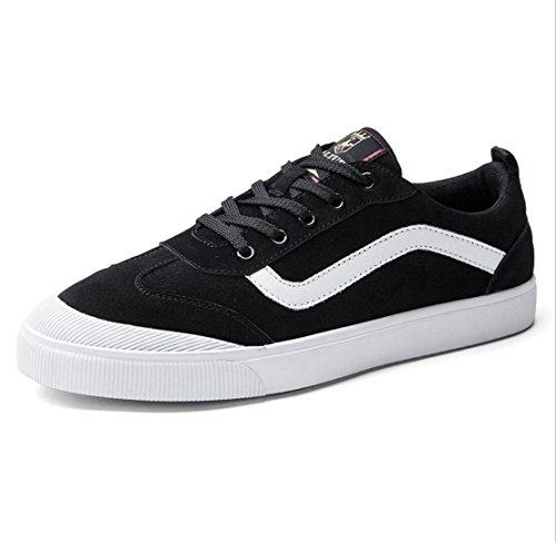 sportive uomo scarpe piatte pelle ballo scarpe da scarpe scarpe black da nuove con scarpe in da uomo da Scarpe WSK guida AEnq0w7g
