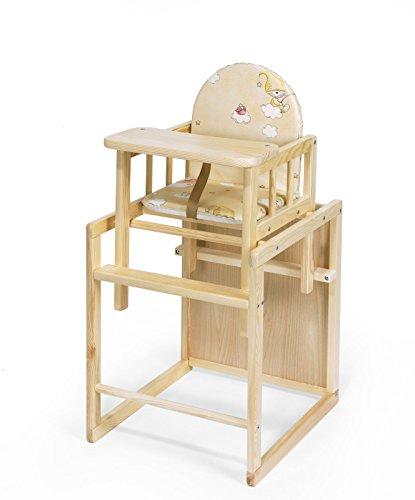 KOKO- Kombi-Hochstuhl   PAUL   umbaubar zur Stuhl-Tisch Kombination   Farbwahl (Kiefer)