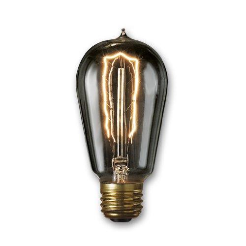Bulbrite NOS40-1890/SMK 40-Watt Nostalgic Edison ST18 Bulb, Vintage Hairpin Filament, Medium Base, Smoke