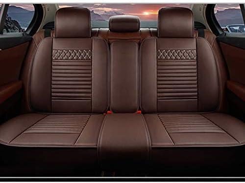 Cuero Fundas Asiento Delanteros y Traseros,Beige Reposacabezas y Reposacabezas 8X-SPEED 5 Cubreasientos de Asientos de Autom/óvil para Toyota RAV4 Hybrid Comodidad