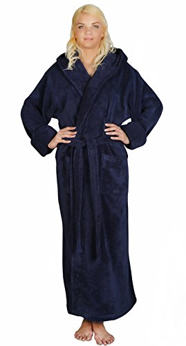 Arus Womens Length Turkish Bathrobe
