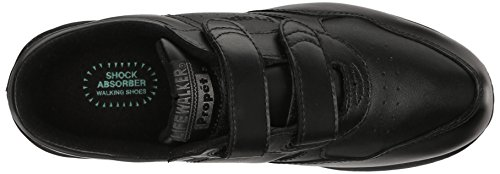 Propet Men's Life Walker Strap Sneaker,Black, 10.5 M (D)