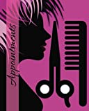 Appointments: Purple 6 Column Appointment Book for Salons, Spas, Hairdressers and other Business | Weekly: Monday to Saturday | 8' x 10' Paperback (Beauty) (Volume 11)