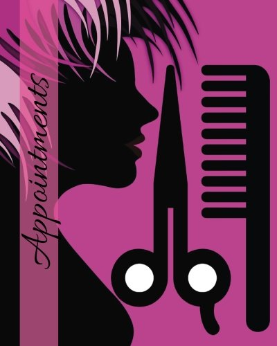 """Appointments: Purple 6 Column Appointment Book for Salons, Spas, Hairdressers and other Business 