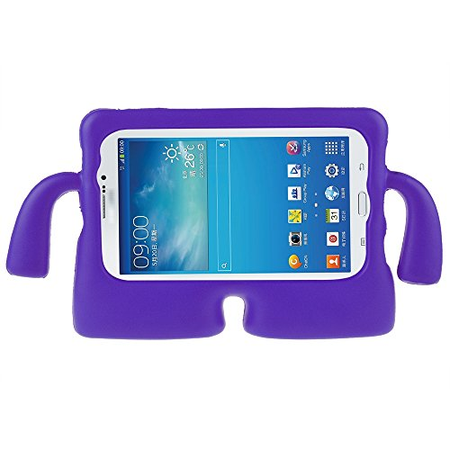 ABLEGRID Protective Rubberise EVA Foam Childproof Shockproof Cover Case Durable Light Weight Cute Cartoon Kids Case for Samsung Galaxy Tablet 2 /3 /3 Lite / 4 / Q (7 inch version) (Purple) (Tablet Covers For Kids compare prices)