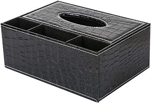 Dmqpp Multifunktions-PU-Leder-Feder-Bleistift-Fernbedienung Tissue Box Halter-Schreibtisch-Aufbewahrungsbehälter-Behälter
