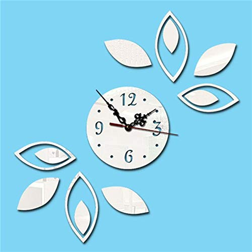 - HBK Creative Acrylic Wall Flowers Clock Mirror Wall Stickers Personalized Mirror Clock Mirror Gold Silver Black 3 Color for Choose