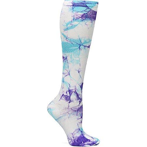 - Nurse Mates Women's 12-14 Mmhg Compression Trouser Sock Lilac Aqua Tie Dye