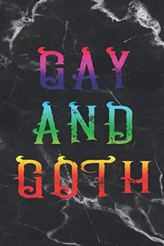 Gay And Goth: Blank Lined Notebook ( Gothic ) Marble