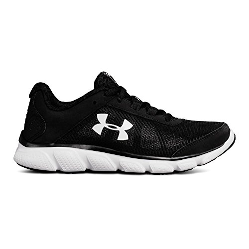 Under Armour Women's Micro G Assert 7 Running Shoe, Black (001)/White, 8.5