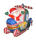 "Chrisha Creations 00302 57""Infl Santahelicopter Christmas, Outdoor Figures, Inflatable"
