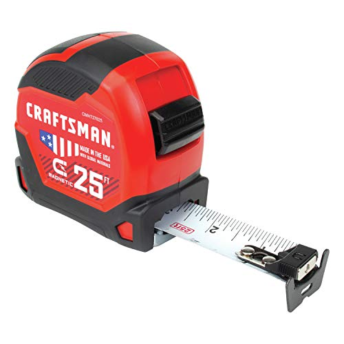 CRAFTSMAN Tape Measure 25-Foot, Magnetic (CMHT37625S) (Tape Measure Magnetic)