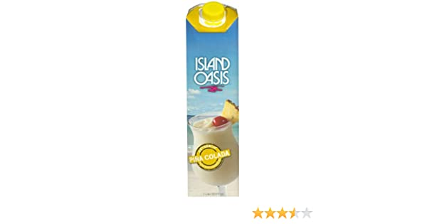 Island Oasis Frozen Drink and Smoothie Mix - Pina Colada, 33.81-Ounce Containers (Pack of 12)