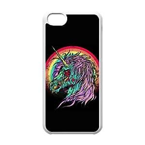 iPhone 5c Cell Phone Case White Zombie Unicorn Tavx