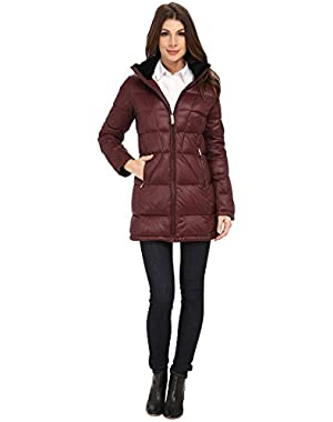 Calvin Klein Women's Packable Down Walker Coat with Velvet Collar