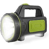 Potente Linterna Recargable LED con 135000 Lúmenes Linterna LED Alta Potencia 6000 mah 100M y IP65 Foco Super Brillante…