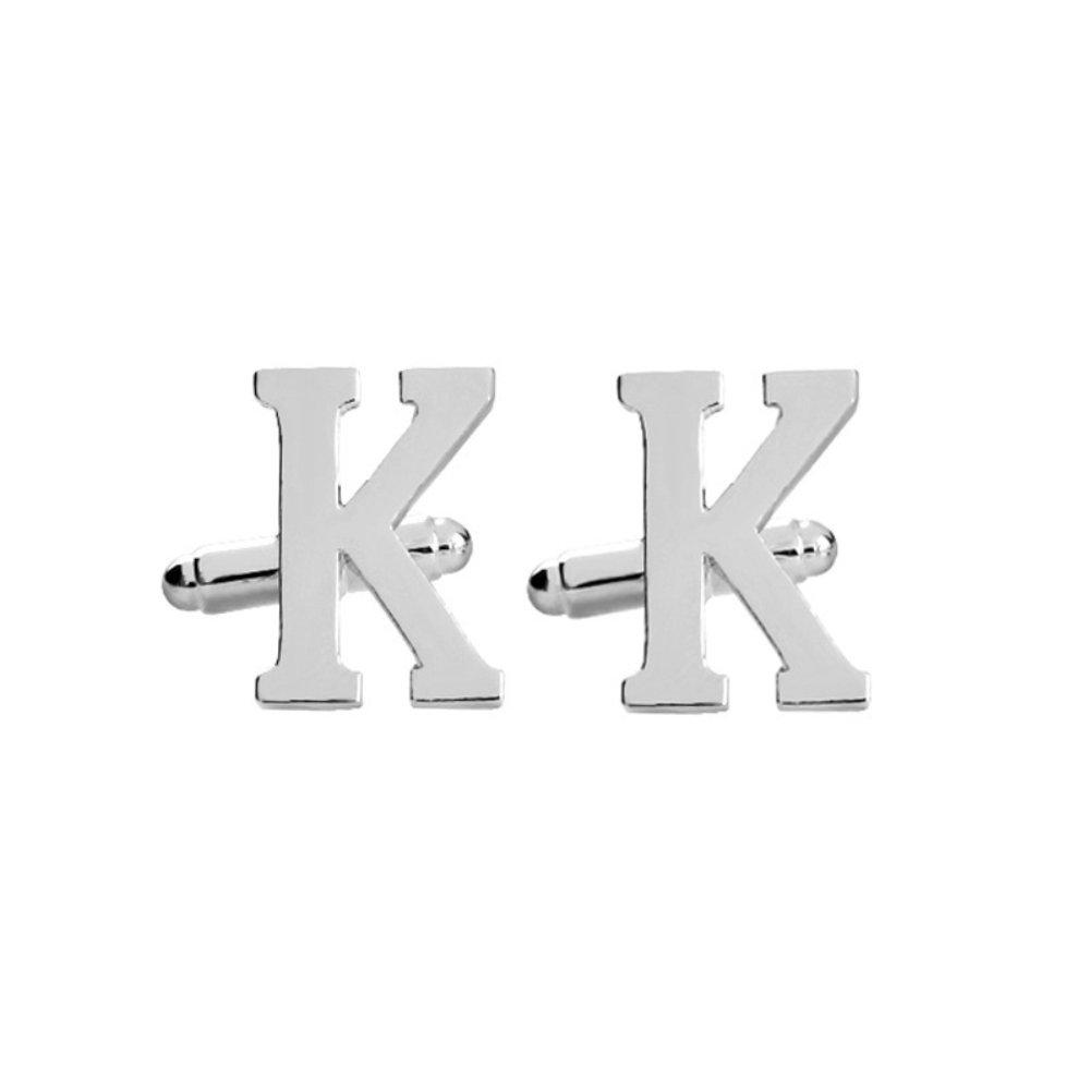 MIJI Gemelos para Hombres 1 par Cartas cl/ásicas Boda Formal Regalo de Empresa Pu/ños de los Hombres A-Z
