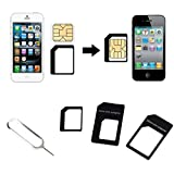 Botrong Convert Nano SIM Card to Micro Standard Adapter For iPhone 5