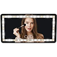 $21 » eveco Car Visor Vanity Mirror - Rechargeable LED Light Makeup Mirror for All Car…