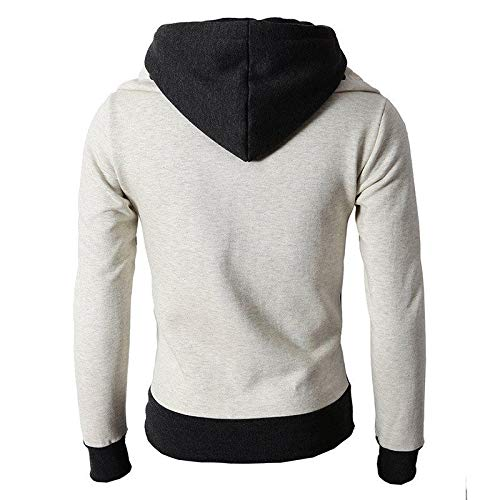 Sumen Men Clothing Clearance! Autumn Winter Casual Long Sleeve Hooded Cardigan Jacket with Zipper
