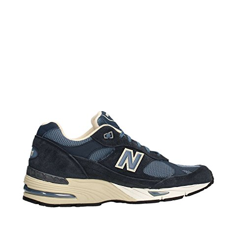 E IN MADE Bleu MESH PELLE ENGLAND IN 991 Blu NB SNEAKER q0fxwBC0