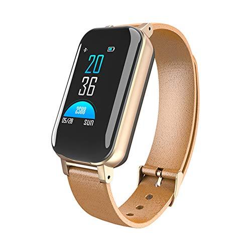 - 2019 Bluetooth Headset Smart Bracelet 2-in-1 Heart Rate Blood Pressure Monitor IP68 Waterproof Outdoor Fitness Activity Tracker for Men and Women,2