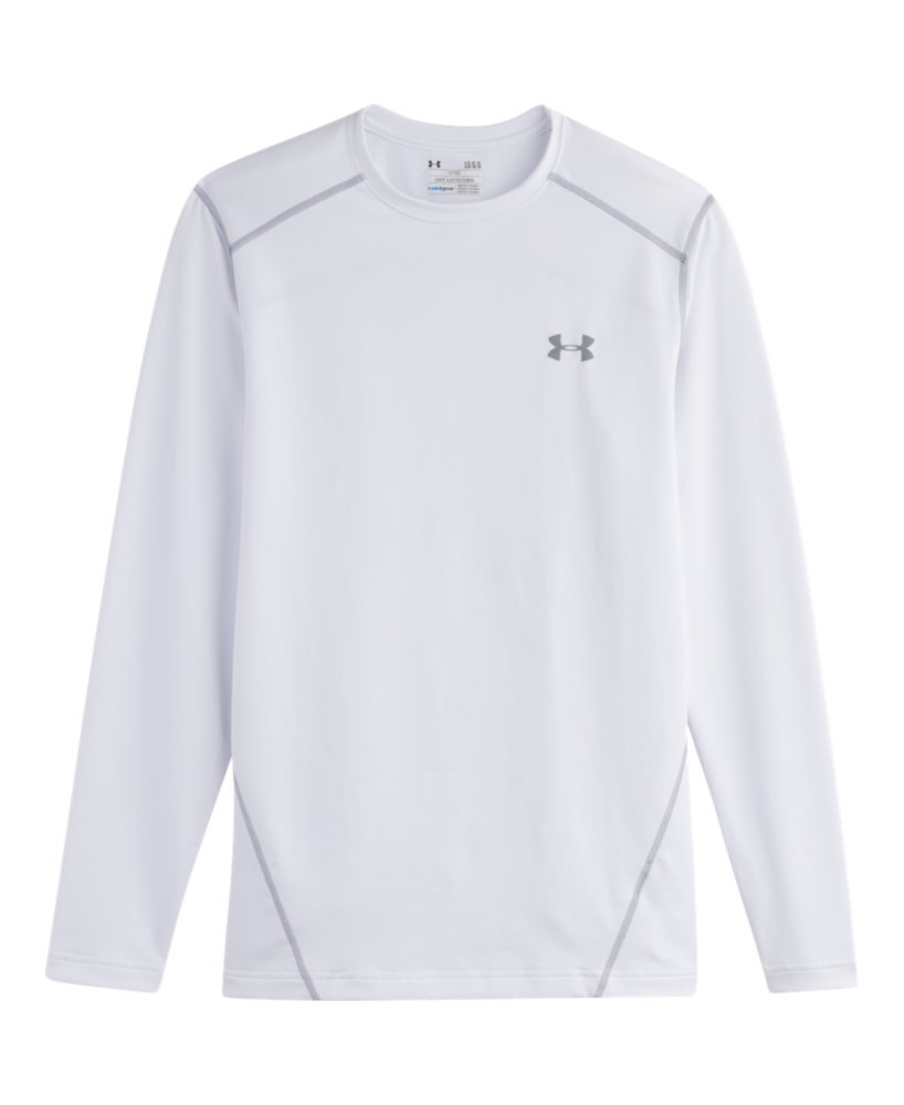 Under Armour Evo ColdGear Fitted Crew - Men's White / Steel Large by Under Armour (Image #3)