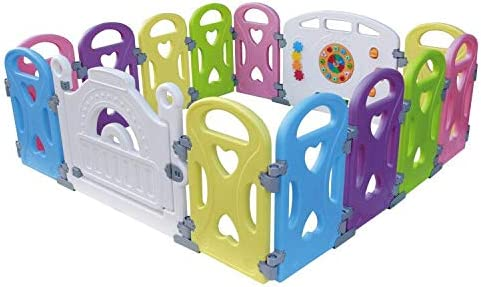 Baby Playpen interior y exterior bol/ígrafo juego de seguridad en el patio con 14 paneles 8 panel Centro de actividades para ni/ños