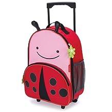 Skip Hop Zoo Little Kid & Toddler Rolling Luggage, Livie Ladybug