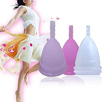 Copa Menstrual de Silicona Reutilizables para Mujer Higiene ...