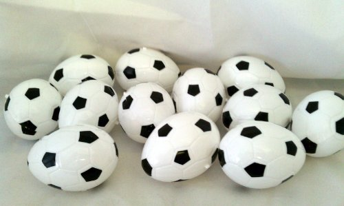 "12 Soccer Plastic Easter Eggs, 2 1/2"" X 1 1/2"" Each"