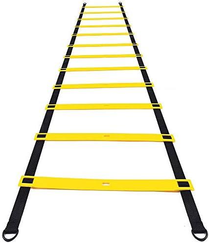Amasawa 6m 12 Tableros Escalera de Agilidad con Bolsa para Entrenamiento Funcional El Fútbol El Baloncesto El Tenis Espera (Negro): Amazon.es: Deportes y aire libre