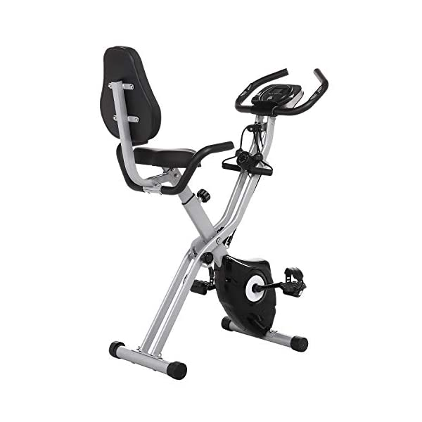 ANCHEER-Exercise-Bike-Fitness-Bike-Foldable-F-Bike-Indoor-Cycling-Bike-at-Home-Fitness-Bike-with-11-Levels-Adjustable-Magnet-Resistance-and-Arm-Training-Bands-black