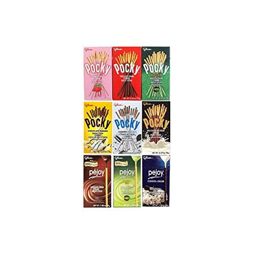 - Pocky Pejoy Biscuit Sticks Variety, Pack of 9 Boxes