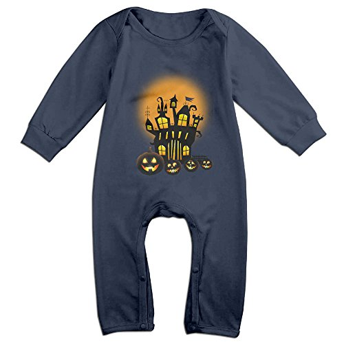 ElishaJ Halloween Babys Long Sleeve Bodysuits Navy Size 24 Months (Halloween Jon Bellion)