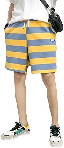 YiTongショートパンツ 夏 メンズ ゆる ハーフパンツ 半ズボン おしゃれ シンプル 5分丈パンツ 短パン ストライプ キレイめ 吸汗速乾