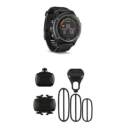 Garmin Fenix 3 HR, Gray and Bike Speed Sensor and Cadence Sensor