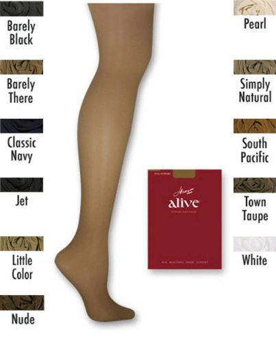 20349c9cef87d Image Unavailable. Image not available for. Color: Hanes 1 Pair Alive  Control Top Reinforced Toe Pantyhose - 810 Classic Navy E