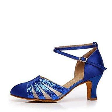 US5   EU35   UK3   CN34 Wuyulunbi@ Wohommes Paillette Talon sandale Piscine Paillette Argent Or bleu bleu