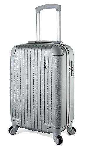 (TravelCross Philadelphia 20'' Carry On Lightweight Hardshell Spinner Luggage - Silver)