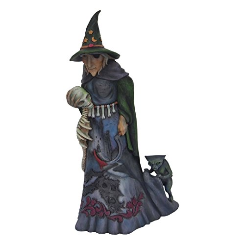 Enesco Jim Shore Heartwood Creek Halloween Witch with Skull -