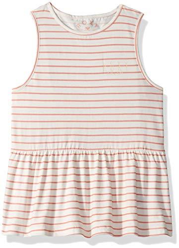 (Roxy Girls' Big Smile Together Peplum Tank Top, Lob Bisque Romantic Stripes Gray, 8/S)