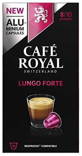 Café Royal Lungo Forte 50 Nespresso kompatible Kapseln (aus Aluminium, Intensität 8/10), 5er Pack (5 x 10 Kaffeekapseln)