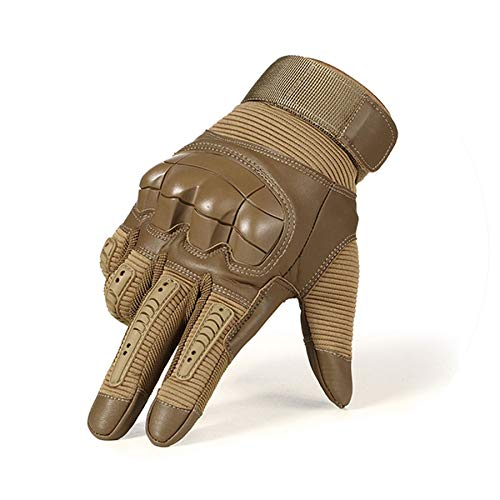 Touch Screen PU Leather Motorcycle Gloves Motocross Knuckle Full Finger Glove Men ()