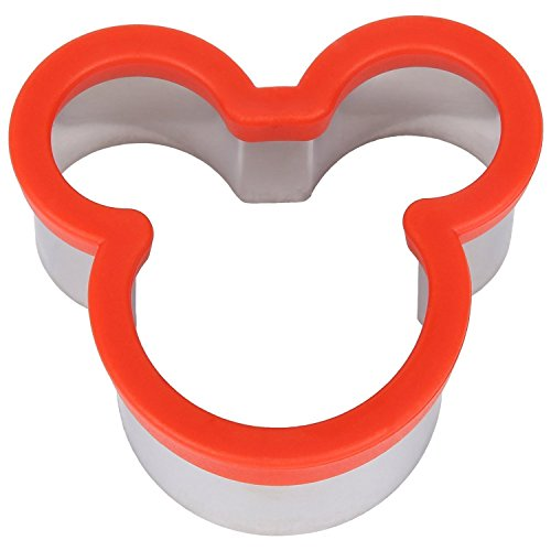 Stainless Steel Mickey Mouse Cookie Cutter/Kids Sturdy Cutters for Cookies, Sandwiches, Biscuit ()
