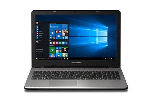 MEDION MD 99904 E6415 15,6 Zoll (39,6 cm) Notebook mit mattem Full HD Display (Intel Core i3-5005U Prozessor, 8GB RAM Arbeitsspeicher, 1TB HDD Festplatte, Intel HD Graphics, DVD RW Laufwerk, ohne Betriebssystem ) titan