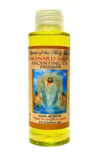 Biblical Anointing Oil Spikenard Nardo 2 fl oz Bottle Blessed in Jerusalem Holy Land - Nativity Blessings Collection