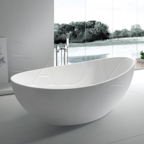 Adm free standing stone resin bathtub for Best bathtub material