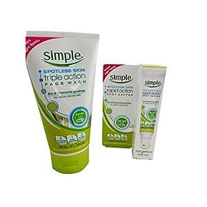 Simple Spotless Skin Rapid Action Spot Zapper & Simple Spotless Triple Action Face Wash by Simple